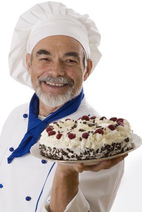 Portrait of happy attractive cook
